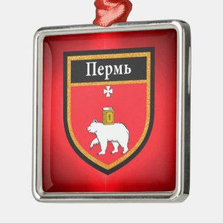 Perm Flag Metal Ornament
