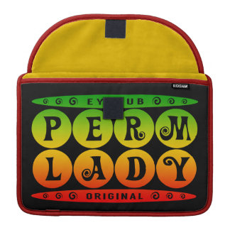 PERM LADY - I Love Curly & Permed Hairstyle, Rasta Sleeves For MacBook Pro