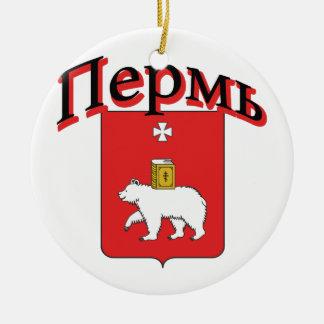 Perm Russia Flag Ceramic Ornament