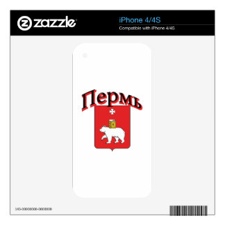 Perm Russia Flag Decals For iPhone 4S