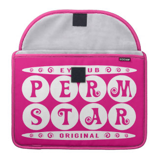 PERM STAR - I've Headturner Curly Hairstyle, White Sleeves For MacBook Pro