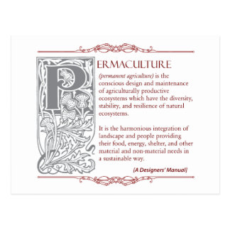 Permaculture - A Definition (1) Red & Gray Postcard