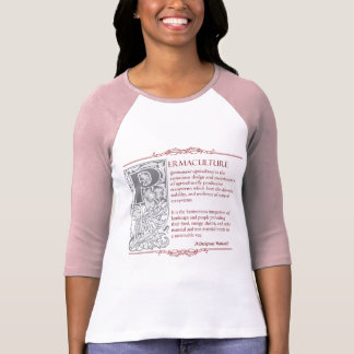 Permaculture - A Definition (1) Red & Gray T-Shirt