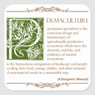 Permaculture - A Definition (1) Square Sticker