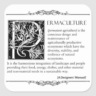 Permaculture - A Definition (2) Square Sticker