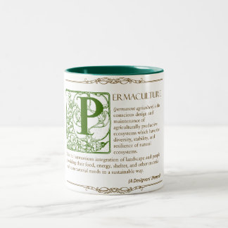 Permaculture - A Definition (3) - Green & Brown Two-Tone Coffee Mug