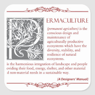 Permaculture - A Definition (3) Square Sticker