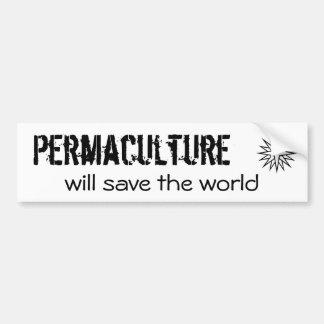 Permaculture, ahorrará el mundo pegatina para auto