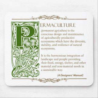 Permaculture - un verde y un Brown de la definició Mouse Pad