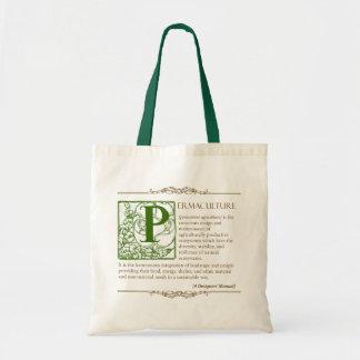 Permaculture - una definición 3 - verde y Brown Bolsa
