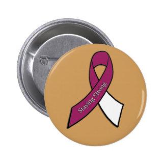 Permanecer el botón fuerte del cáncer de la pin redondo de 2 pulgadas