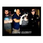 Permanecer la postal de la celebridad