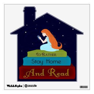 Permanecería bastante el hogar y leería vinilo decorativo