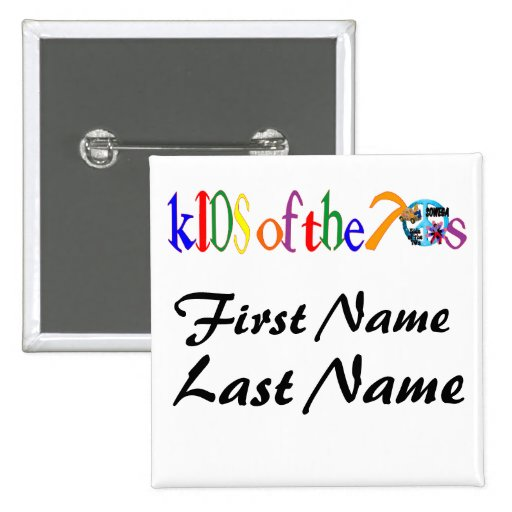 Permanent Event Name tag Pinback Button