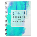 Permanent Green Watercolor Professional Business Notebook