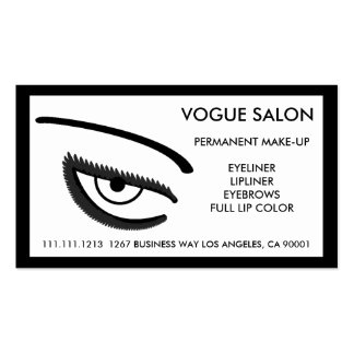 PERMANENT MAKE-UP BEAUTIFUL EYES BUSINESS CARD TEMPLATES