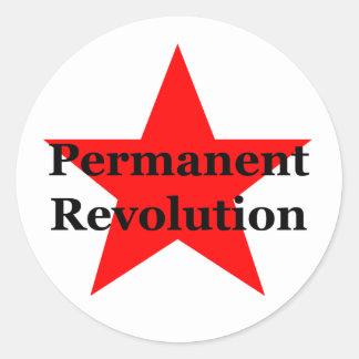 Permanent Revolution Classic Round Sticker
