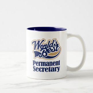 Permanent Secretary Gift For (Worlds Best) Two-Tone Coffee Mug