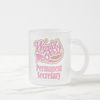 Permanent Secretary Gift (Worlds Best) Frosted Glass Coffee Mug