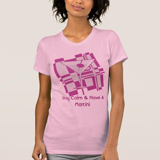 Permanezca la calma y tenga una camiseta del remeras
