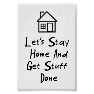 Permanezcamos el hogar y consigamos la materia póster