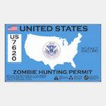 Permiso de la caza del zombi - ZETA Rectangular Altavoz