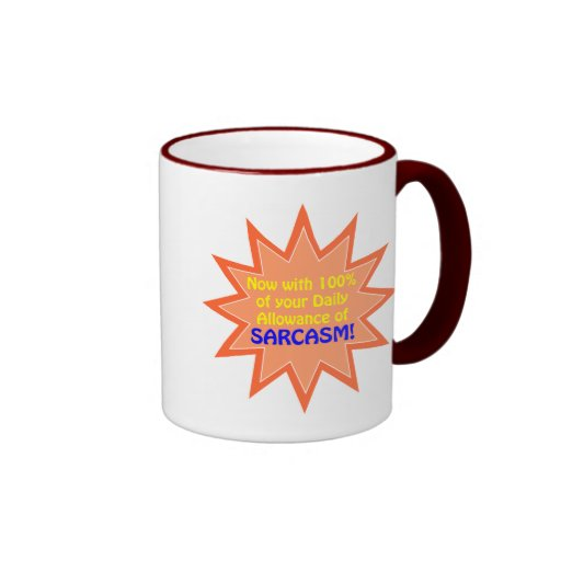 Permiso diario del sarcasmo tazas de café