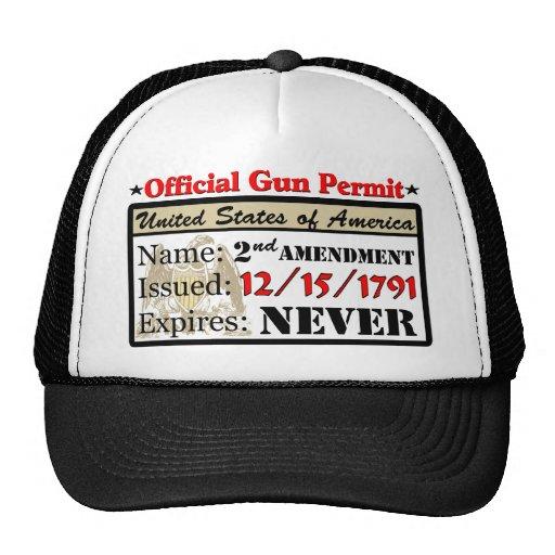 ¡Permiso oficial del arma! Gorra