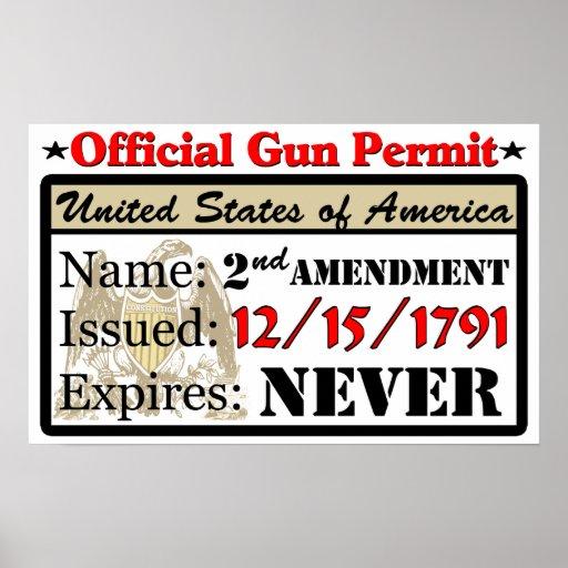 ¡Permiso oficial del arma! Posters