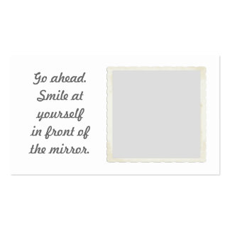 Permiso para sonreír tarjetas de visita del espejo