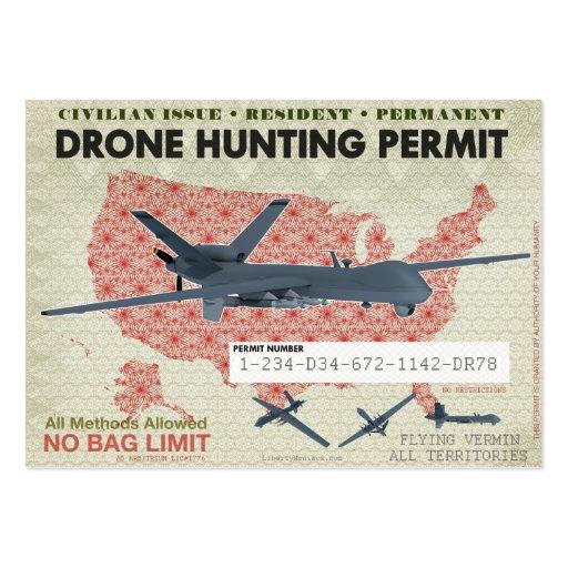 Permisos de la caza del abejón tarjetas de visita grandes