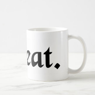 Permission for a temporary absence. coffee mug
