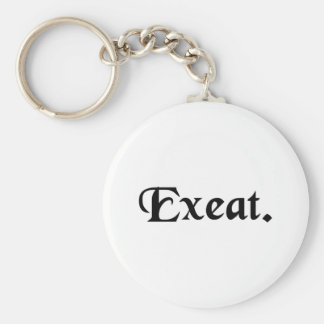 Permission for a temporary absence. basic round button keychain