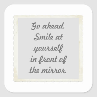 Permission to smile at yourself stickers