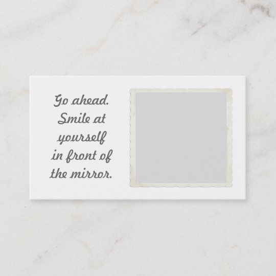 Permission To Smile Mirror Business Cards Zazzle