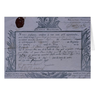 Permit for the Battle of Rossbach, 1757 Greeting Cards