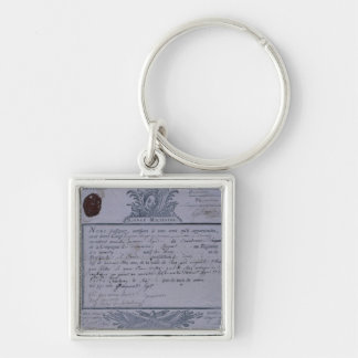 Permit for the Battle of Rossbach, 1757 Keychain