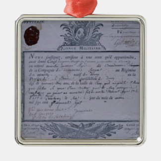 Permit for the Battle of Rossbach, 1757 Metal Ornament