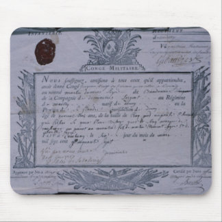 Permit for the Battle of Rossbach, 1757 Mouse Pad