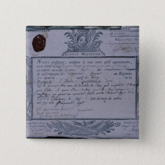 Permit for the Battle of Rossbach, 1757 Pinback Button