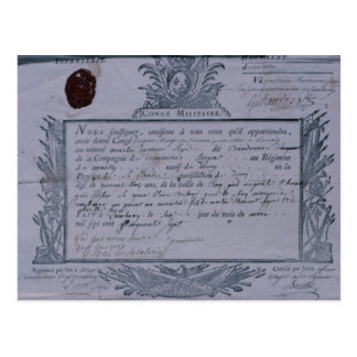 Permit for the Battle of Rossbach, 1757 Postcards