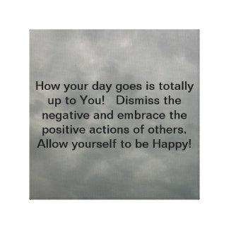 Permítase que sea feliz hoy lona estirada galerias
