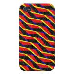 Pern abstracto colorido iPhone 4 funda