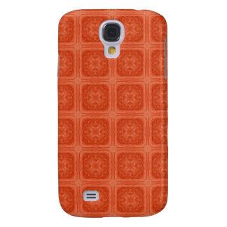 Pern de madera elegante anaranjado funda para galaxy s4
