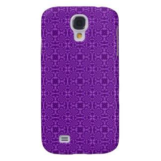 Pern de madera púrpura abstracto funda para galaxy s4
