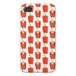 Pern de pimientas rojas iPhone 4/4S carcasas