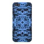 Pern elegante negro y azul iPhone 5 cárcasa