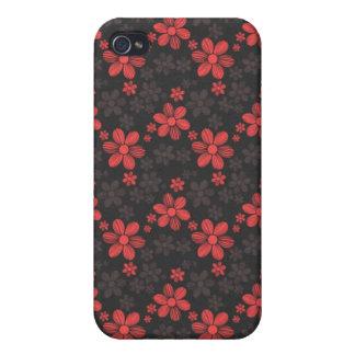 Pern floral de la flor femenina oriental fresca de iPhone 4 cárcasa