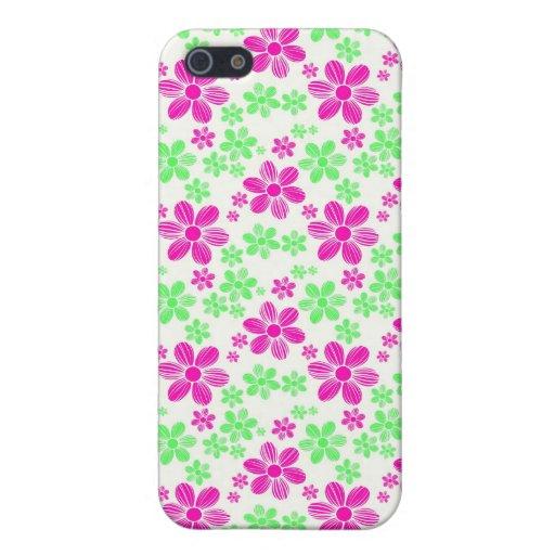 Pern floral de la flor femenina oriental fresca de iPhone 5 fundas