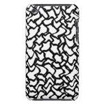 Pern gráfico abstracto blanco y negro. iPod touch cobertura